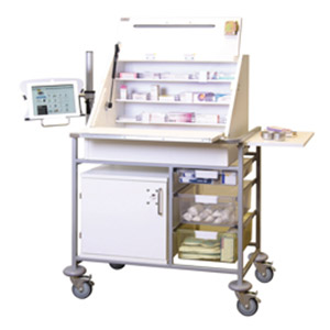 Ward Drug and Medicine Dispensing Trolleys for Laptop or iPad/Tablet